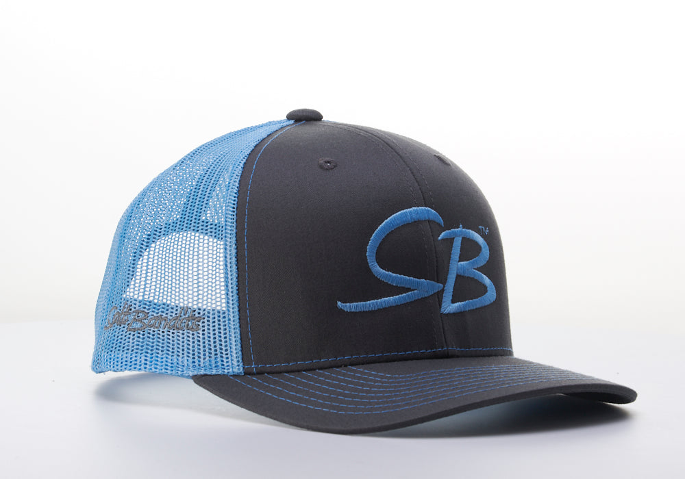 SaltBandits™  Trucker Hat Charcoal/Col. Blue