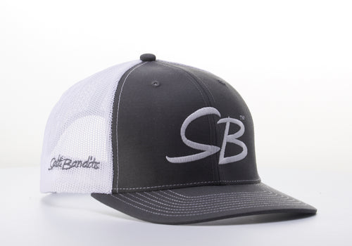 SaltBandits™  Trucker Hat Charcoal/White