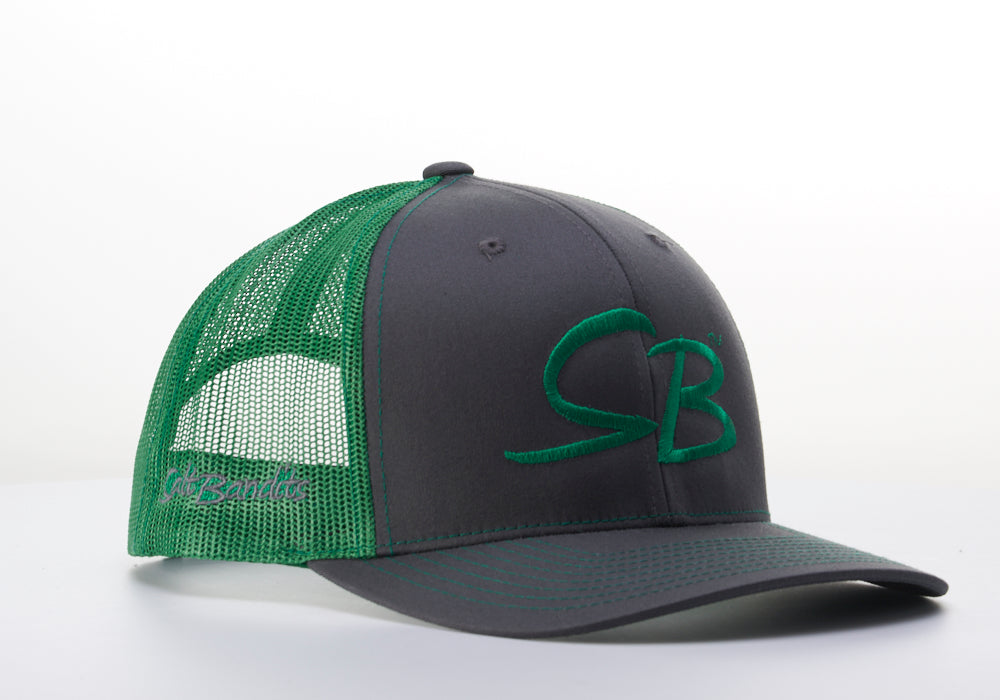 SaltBandits™  Trucker Hat Charcoal/Kelly