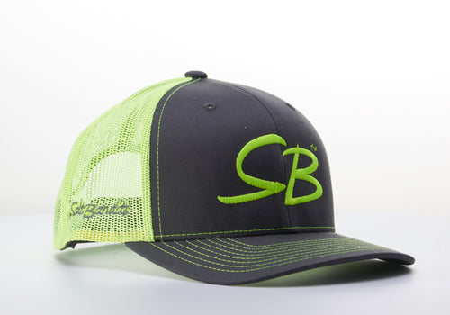 SaltBandits™  Trucker Hat Charcoal/Neon Yellow
