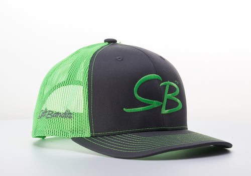 SaltBandits™  Trucker Hat Charcoal/Neon Green