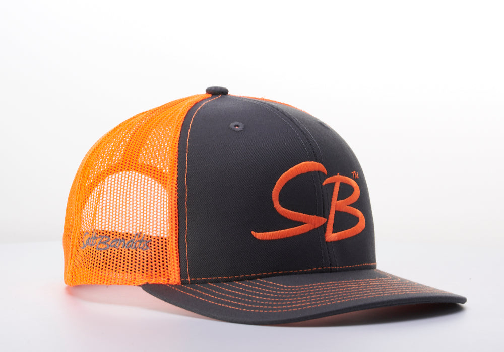 SaltBandits™  Trucker Hat Charcoal/Neon Orange