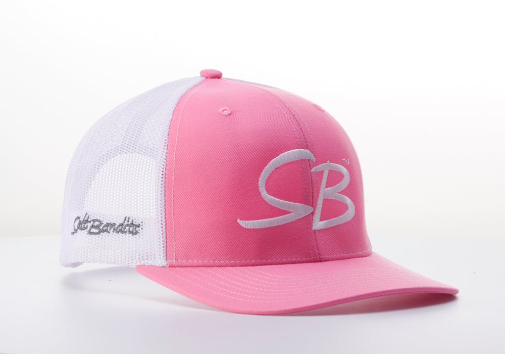SaltBandits™  Trucker Hat Hot Pink/White