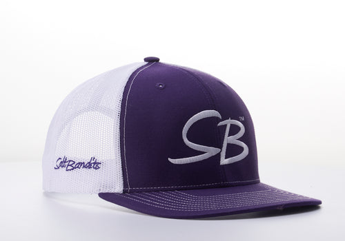 SaltBandits™  Trucker Hat  Purple/White