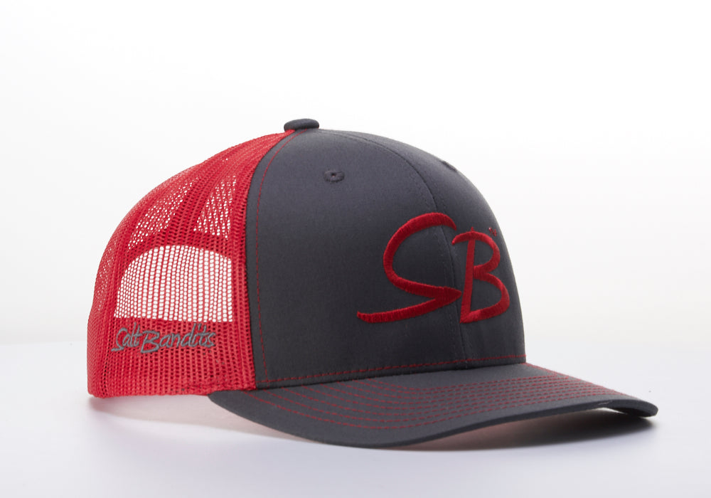 SaltBandits™  Trucker Hat  Charcoal/Red