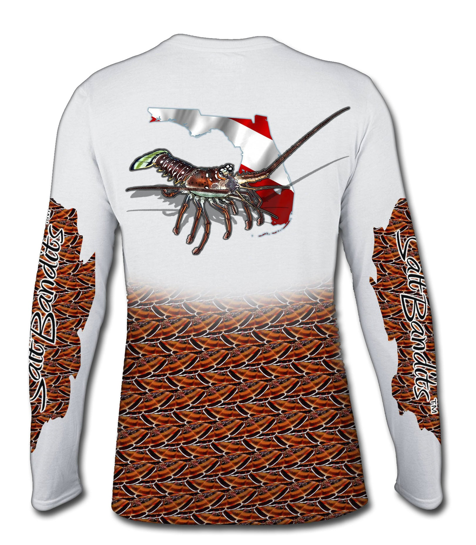 SaltBandits™ Spiny Lobster Performance Long Sleeve T-shirt