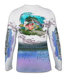SaltBandits™ Spotted Sea Trout Performance Long Sleeve T-shirt