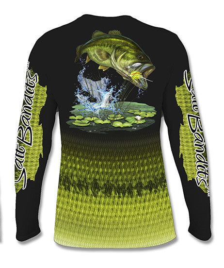 SaltBandits™ Bass Attack Performance Long Sleeve T-shirt