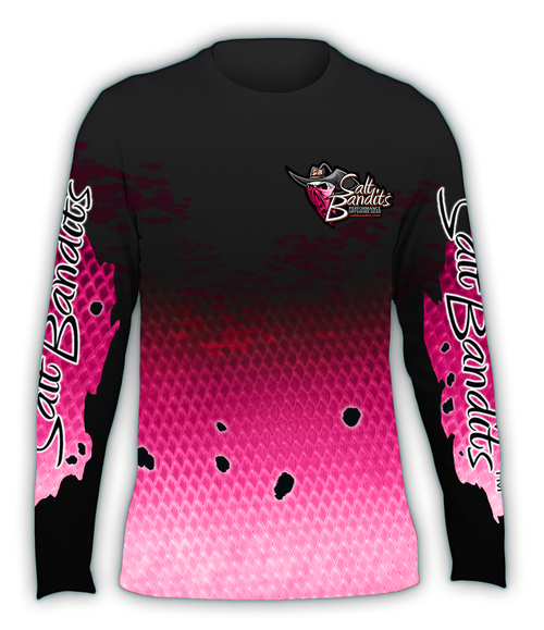 SaltBandits Pink Slam Performance Long Sleeve T-shirt