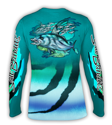 SaltBandits Roosterfish Performance Long Sleeve T-shirt