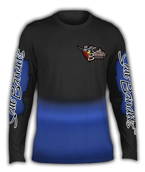 SaltBandits Thin Blue Line Performance Long Sleeve T-shirt