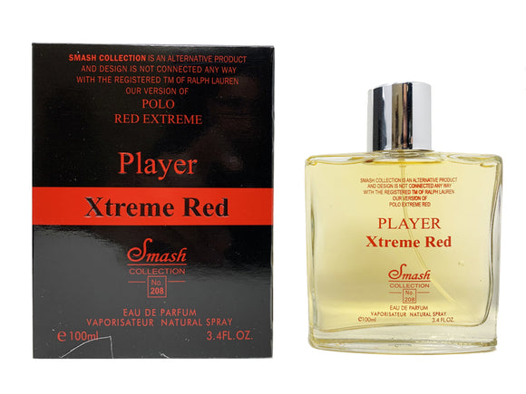 Player Xtreme Red for Men - Inspired by Polo Red Extreme for Men - Smash Collection