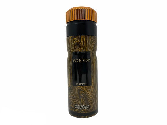 Woody by Riffs Perfumed Body Spray for Men - 8.4oz/250ml