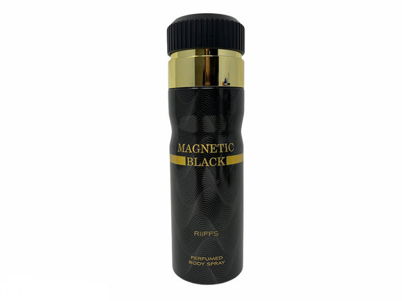 Magnetic Black by Riffs Perfumed Body Spray for Men - 6.67oz/200ml