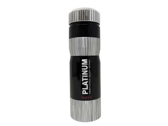 Platinum by Riffs Perfumed Body Spray for Men - 6.67oz/200ml