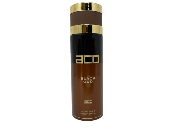 ACO Black Oud Perfumed Body Spray for Men - 6.67oz/200ml