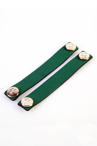 "The Moods Ribbon ""Energetic morning"" - Powerful green leather. Get up and keep on!"