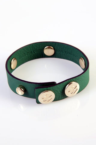 "The Moods Bracelet ""Energetic morning"" - Powerful green leather. Get up and keep on!"