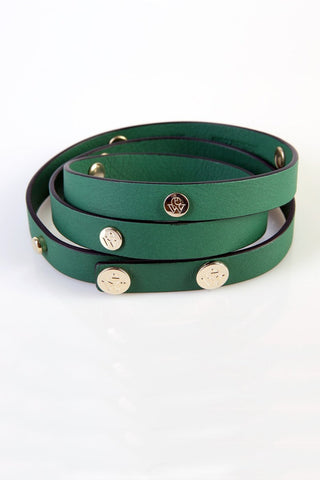 "The Moods Belt ""Energetic morning"" - Powerful green leather. Get up and keep on!"
