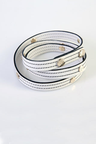 "The Moods Belt ""EW white"" - An infinite elegance in BW."