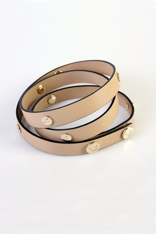 "The Moods Belt ""Sensitive mind"" - Nude as ultimate elegance nowadays. Must have."