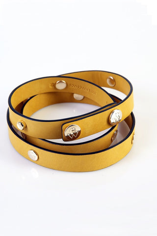"The Moods Belt ""Spicy tounge"" - Mustard yellow color if you have something to say."