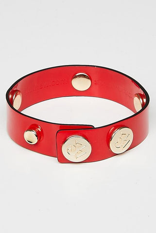 "The Moods Bracelet ""Look at me"" - Patent red leather for an irresistible look."