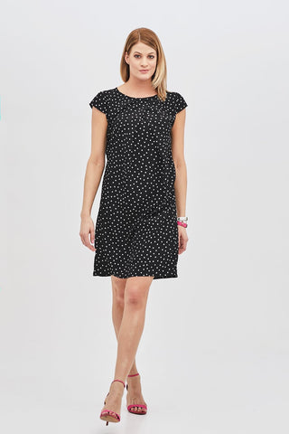 """The Basel Dress"" - black polka dot - Enemy in the Wardrobe"