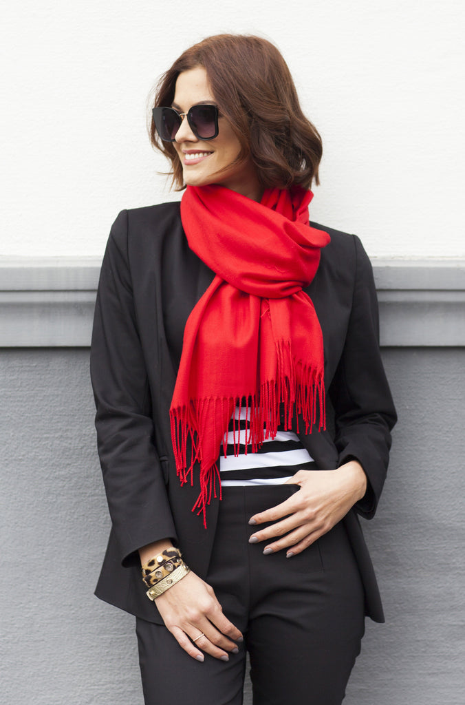 The Patan cashmere-silk scarf - imperial red - Enemy in the Wardrobe