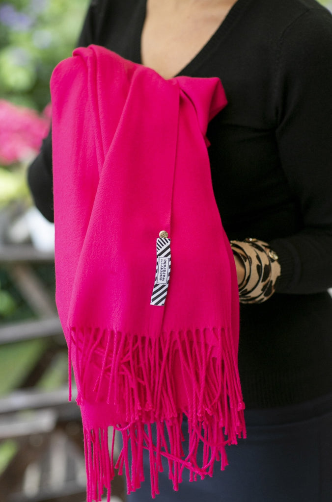 The Göteborg scarf- fuchsia - Enemy in the Wardrobe