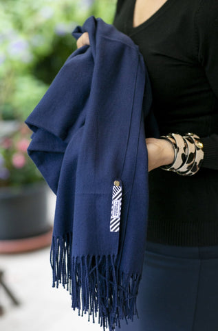 The Göteborg scarf- navy blue - Enemy in the Wardrobe