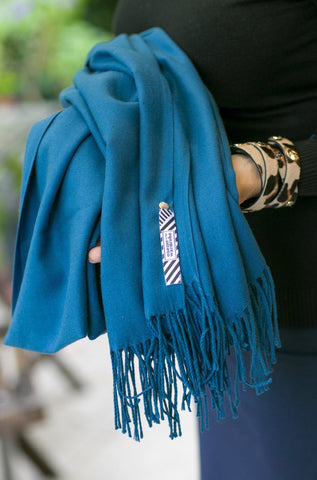 The Göteborg scarf- petrol blue - Enemy in the Wardrobe