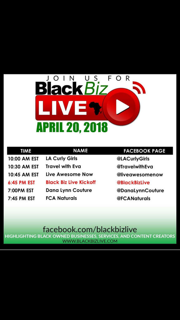 Join FCA Naturals for Black Biz Live