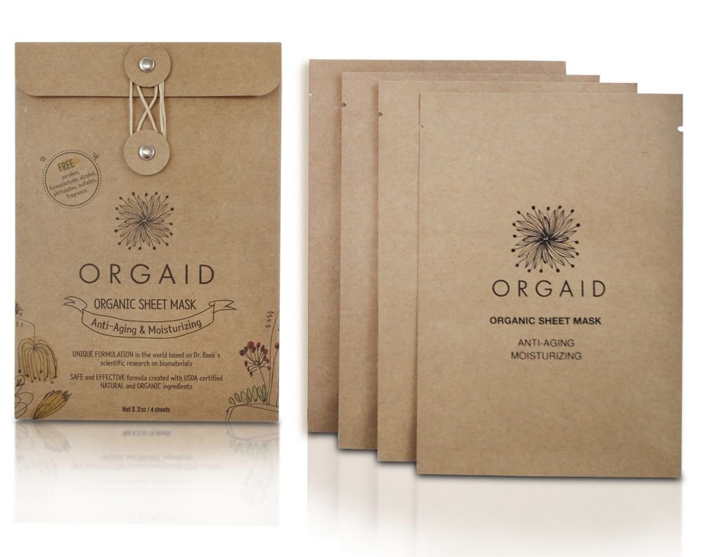 ORGAID - Organic Sheet Mask Anti Aging & Moisturizing Pack