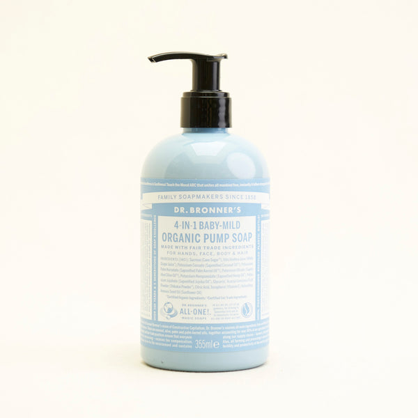 Dr Bronner's - 4 In 1 Baby Mild, Organic Pump Soap