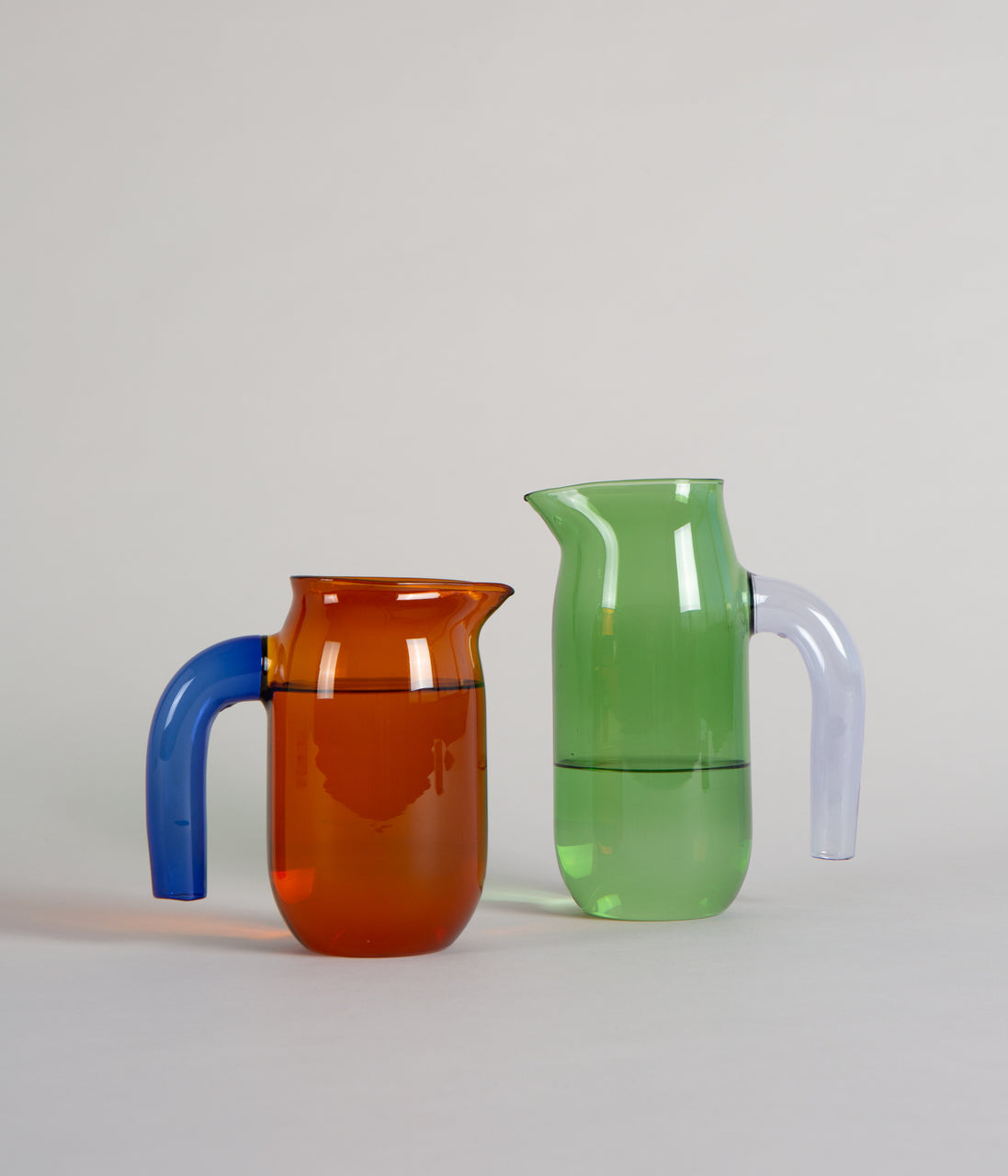Hay Coloured Glass Jug