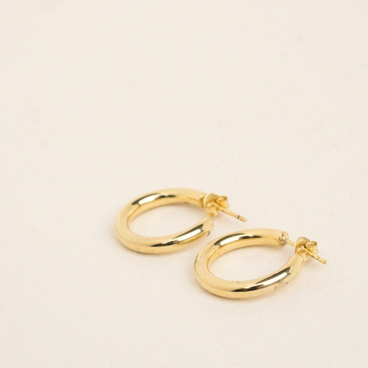 Machete 14K Gold Mini Hoop Earrings