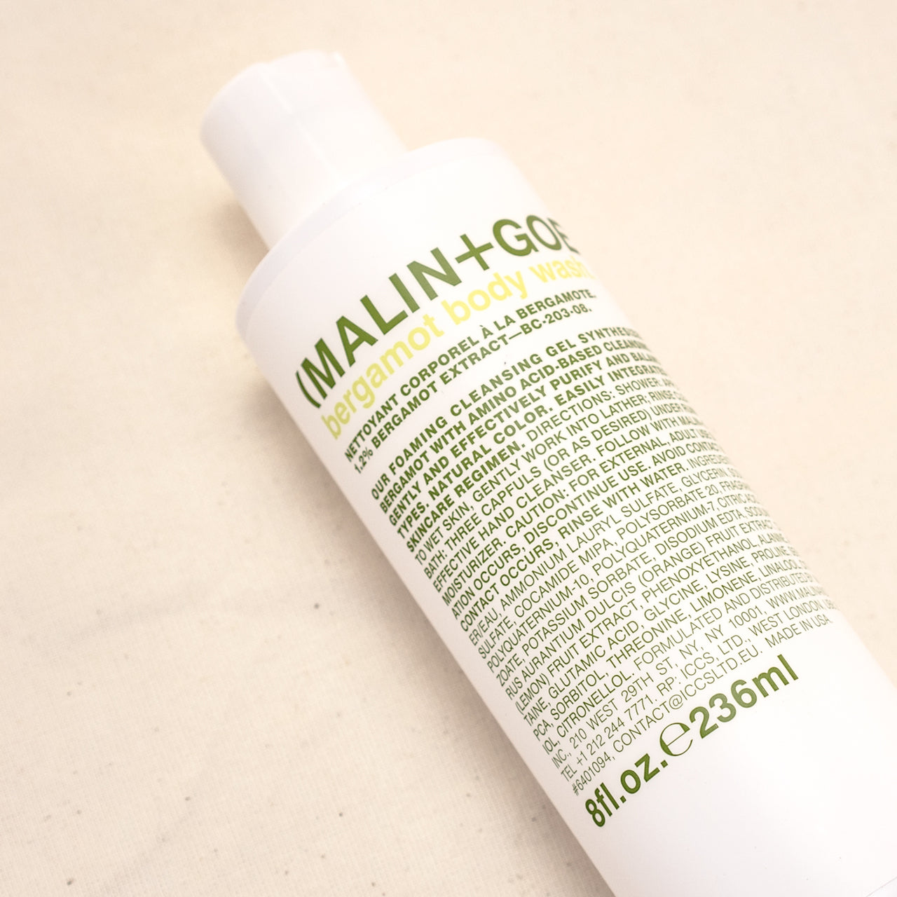 Malin + Goetz Bergamot Hand & Body Wash