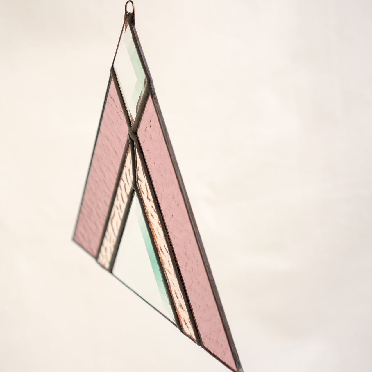 Stained Glass Pink Triangle