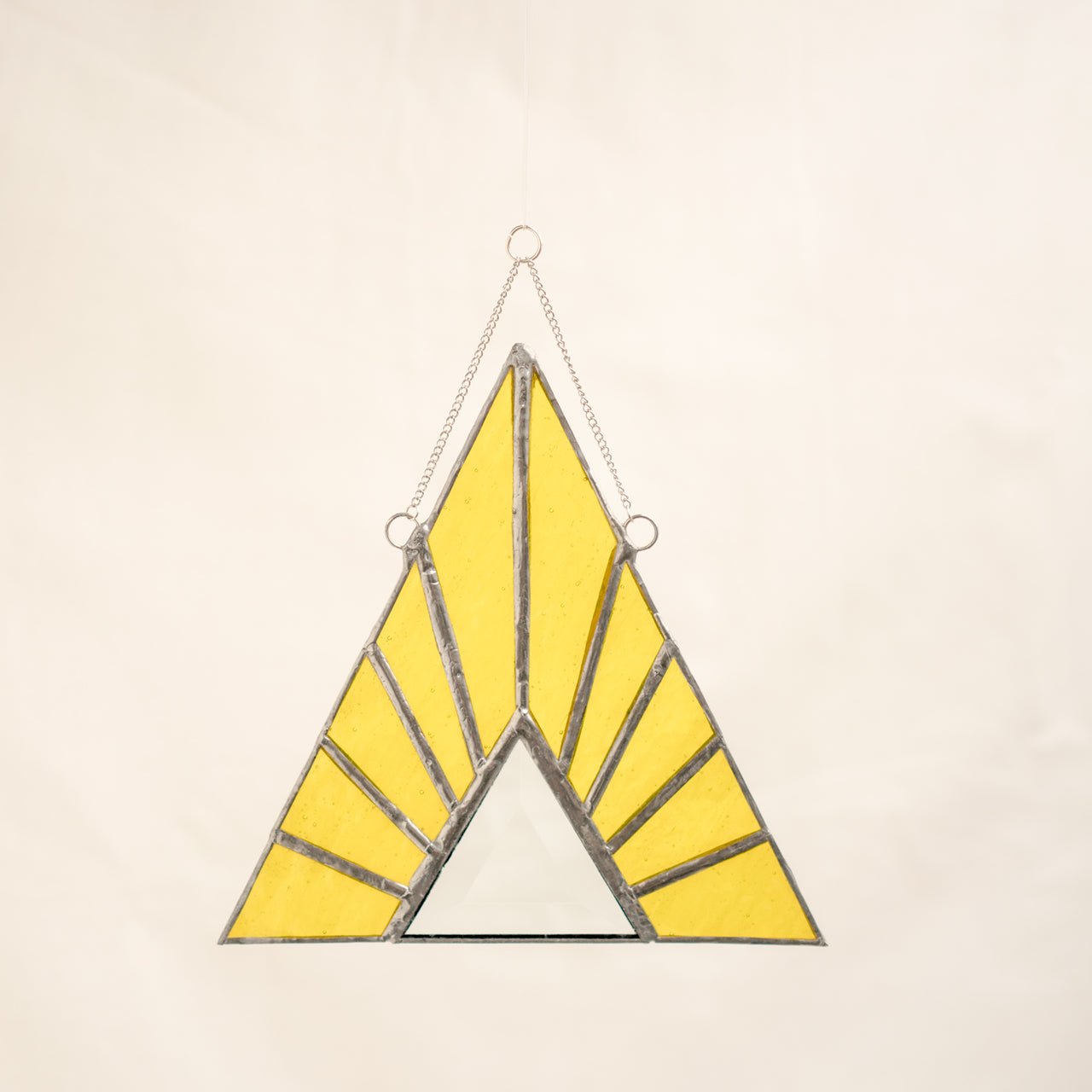 Stained Glass Yellow Triangle