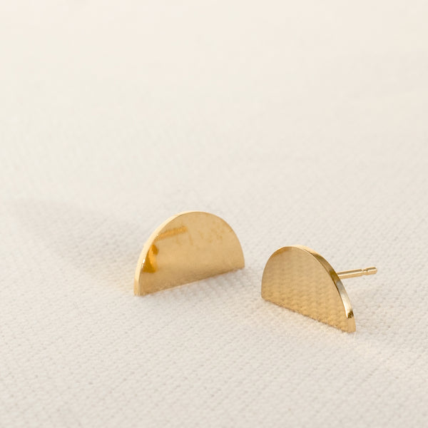The Boyscouts - 18ct Gold Convex Earrings