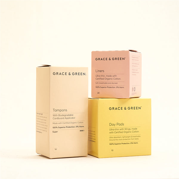 Grace & Green - Organic Tampons + Pads