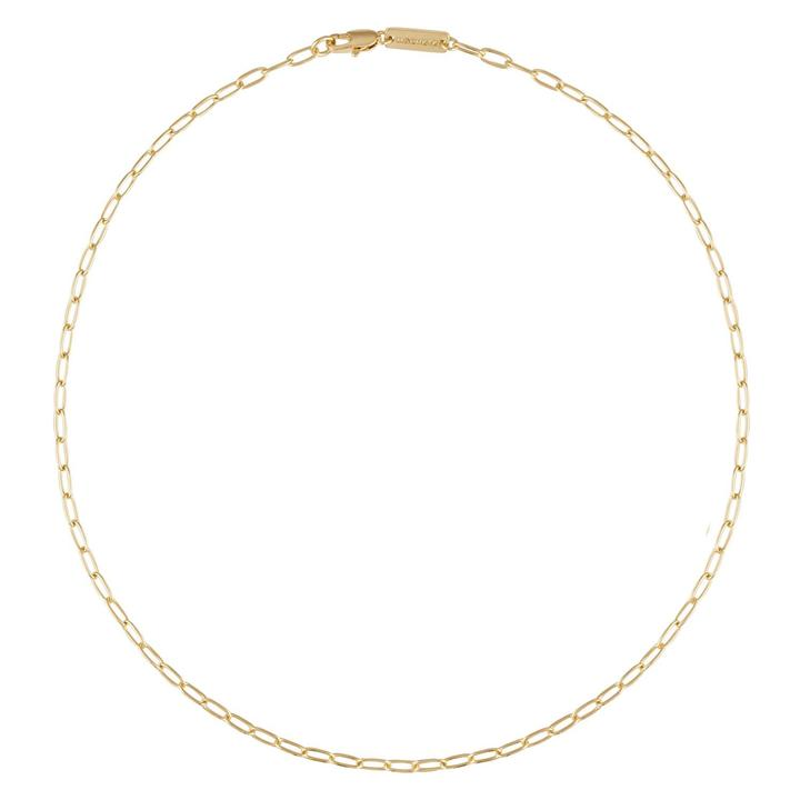 Machete Petite Oval Necklace in 14k Gold