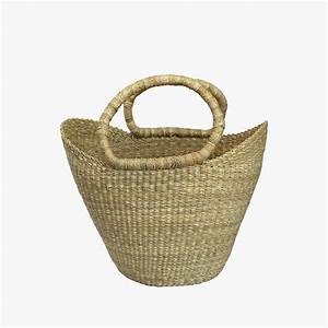 African Basket - All Natural Petite Shopper