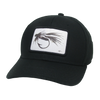 Black & White Fly Black Mid-Pro Snapback