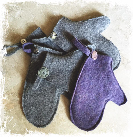 Felted Wool Grooming Mitt