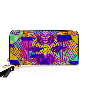 Lush Kingdom Men and Women's PU Leather Wallet around Long Clutch Purse