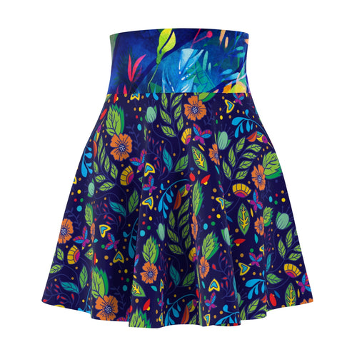 Tropical Night Skater skirt