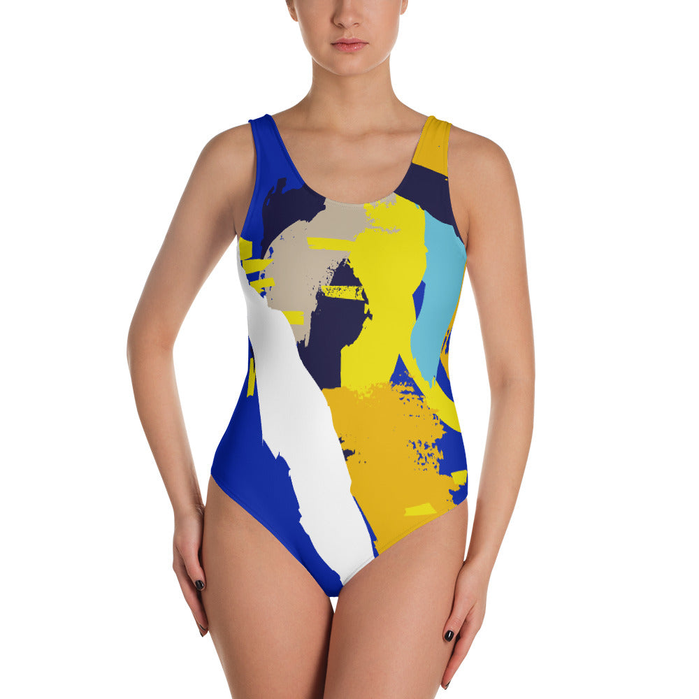 Abstract style One-Piece swimsuit