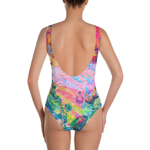 Lady of the Leaves one-piece swimsuit